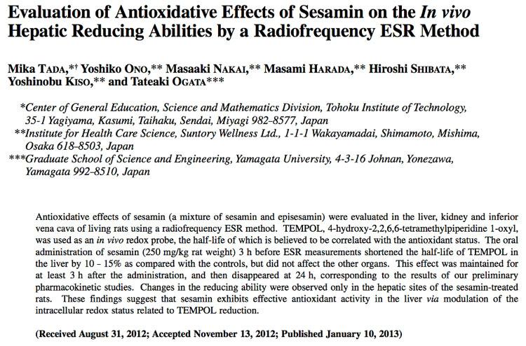 52 Antioxidative Effect of Sesamin